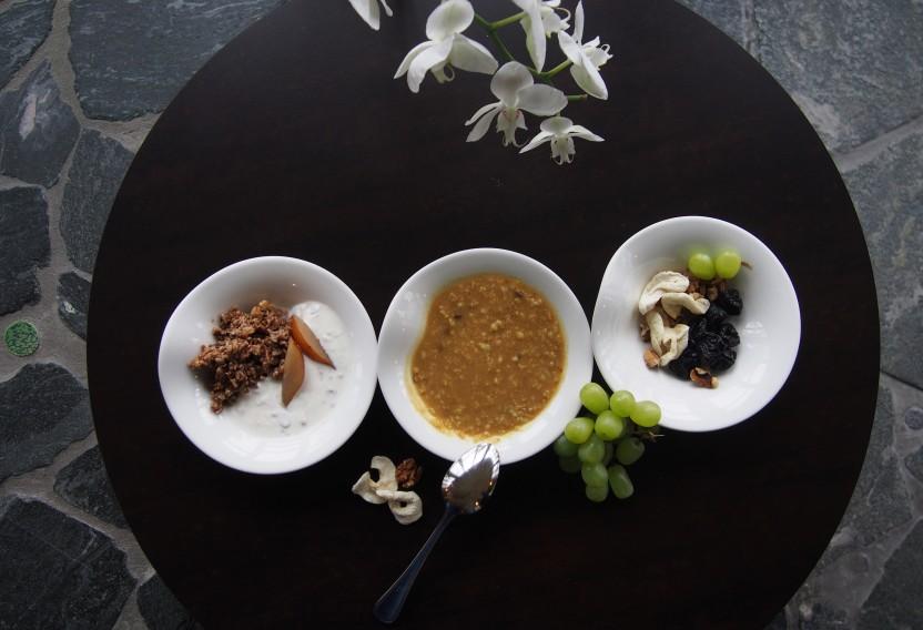 Ayurvedischer Frühstücksbrei und Bircher Müsli © Rogner Bad Blumau
