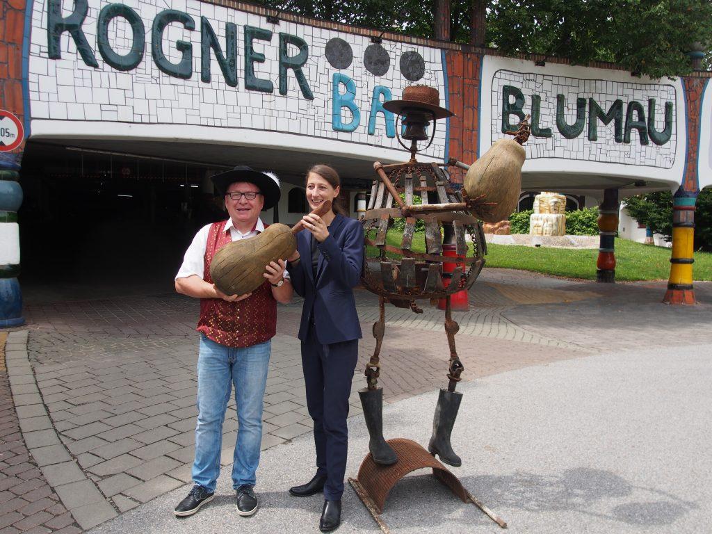 Mostbaron Distelberger auf Sommerfrische im Rogner Bad Blumau