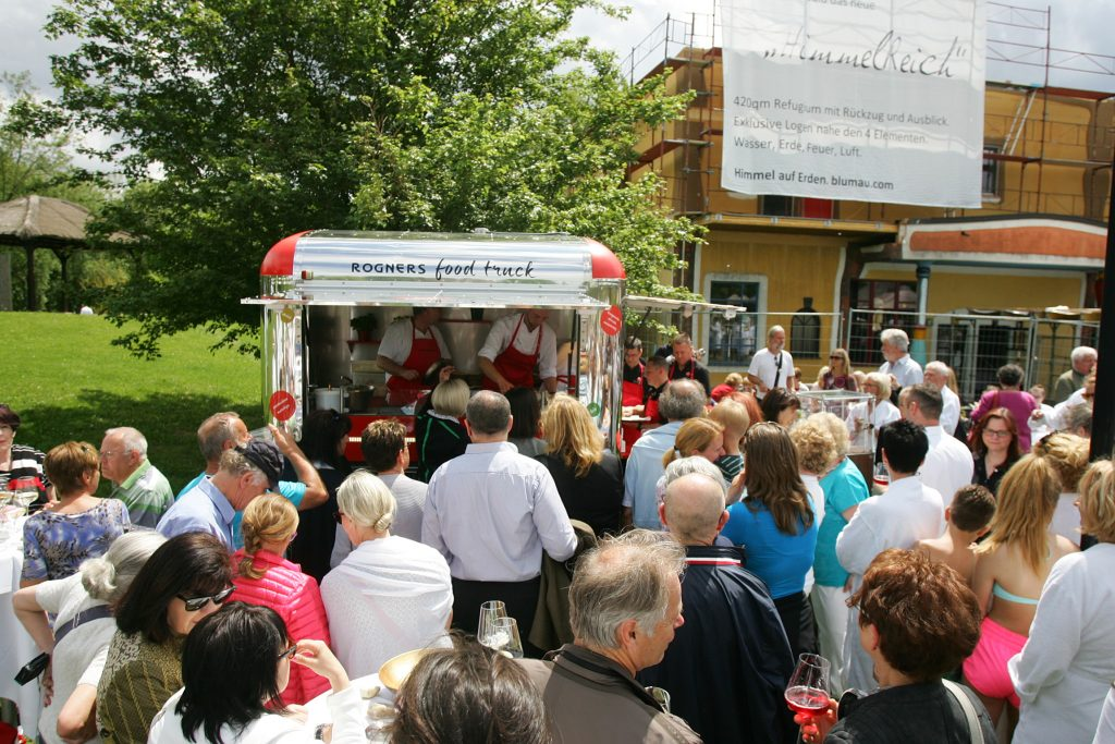 Eröffnung Rogners Food Truck Feierlichkeiten zu 20 Jahre Rogner Bad Blumau © Hundertwasser Architekturprojekt, Rogner Bad Blumau/APA-Fotoservice/Hautzinger Fotograf: Peter Hautzinger