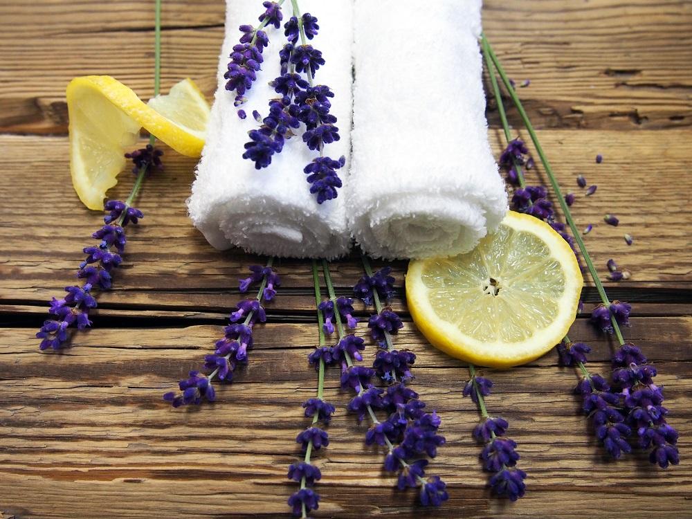 DIY Erfrischungstücher mit Lavendelessenz © Rogner Bad Blumau
